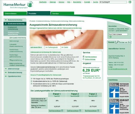 zahnzusatzversicherung mit sofort leistung